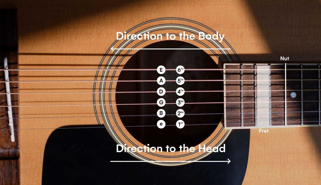 Guitar Strings Order and the numbering of the strings